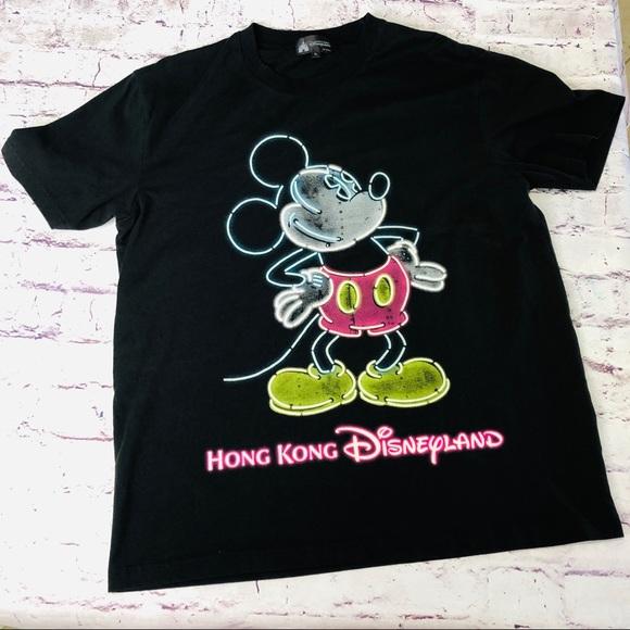 8ef59419b Disney Shirts   Land Mickey Hong Kong Neon Lights Tee Xl   Poshmark